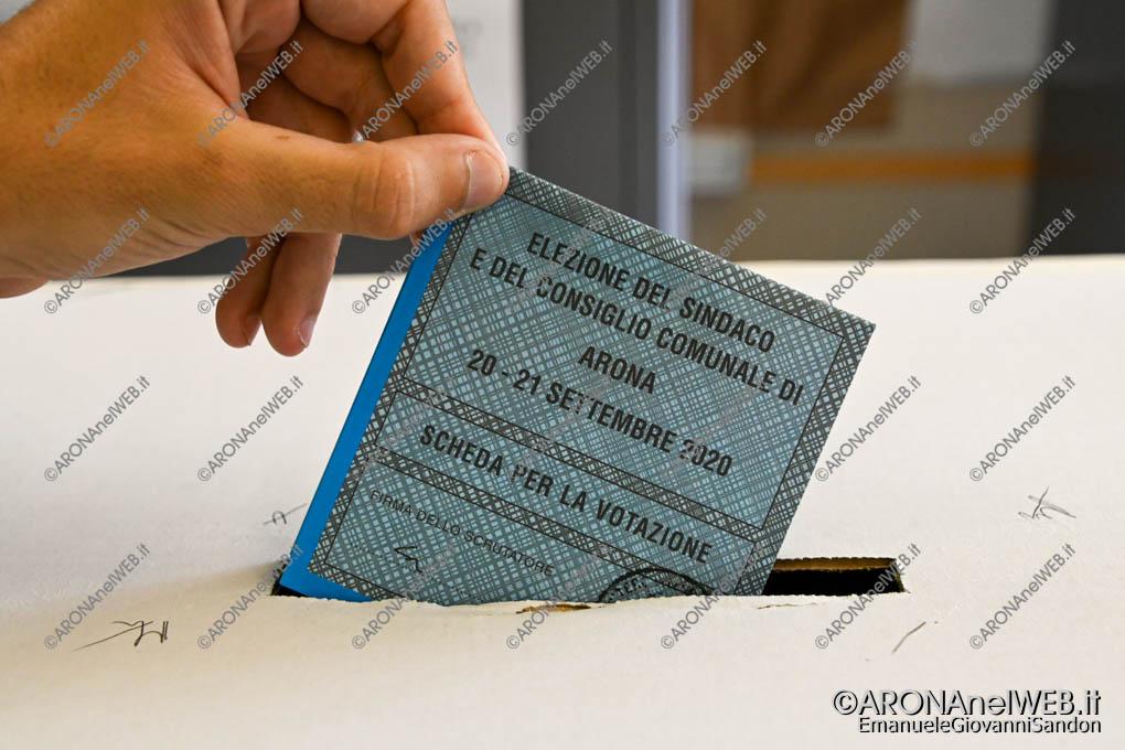 EGS2020_15067 | Scheda elezioni comunali Arona 2020