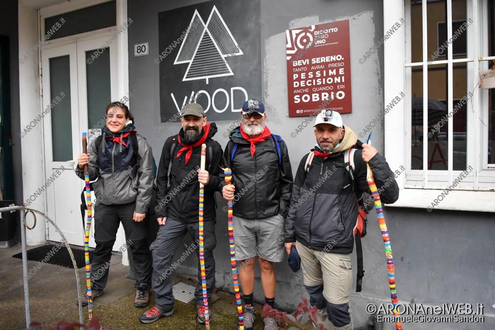 EGS2020_16359   Georgia Monti, Daniele Goldoni, Grazio Rinelli e Fabio Fichera in partenza dalla Casa del Popolo di Arona