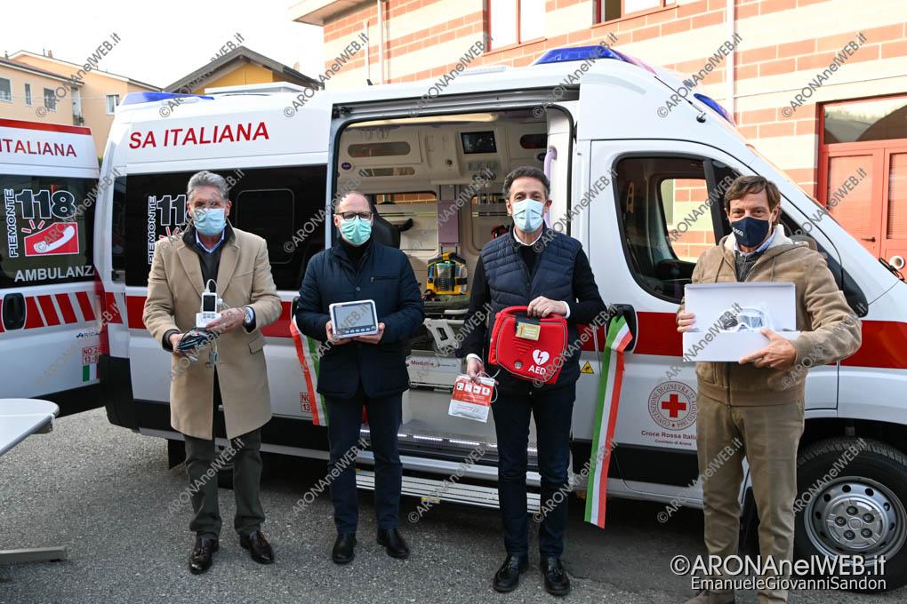 EGS2020_18341 | Cri Arona, l'ambulanza a biocontenimento e la donazione di un DAE in ricordo di Alessandro Guerrero Rodriguez