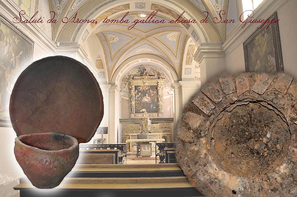 Arona, tomba gallica chiesa di San Giuseppe - CARTOLINE DAL PASSATO #ILMUSEONONSIFERMA - ArcheoMuseo Khaled al-Asaad