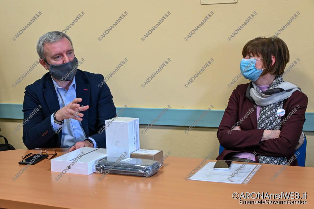 EGS2021_00761   Andrea Baldassini, sindaco di Oleggio e Arabella Fontana, Direttore Generale dell'Asl NO
