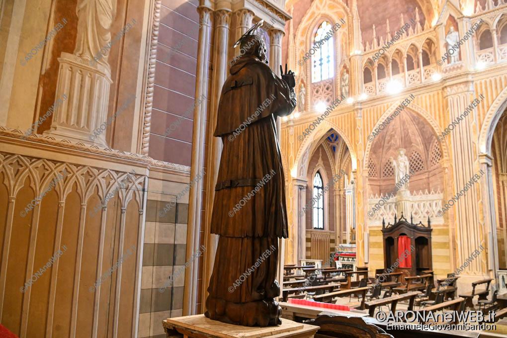 EGS2021_01088 | La statua del Sancarlino restaurata esposta nella chiesa di San Graziano