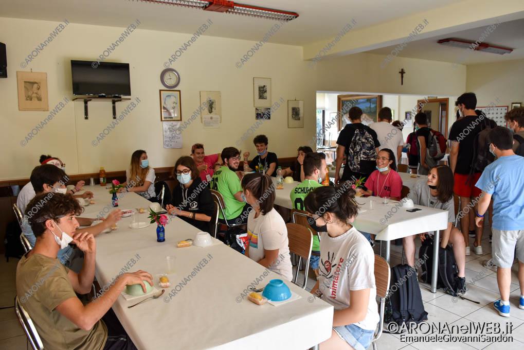 EGS2021_03383   Route dei Giovani 2021, colazione offerta al centro incontro anziani di Grignasco