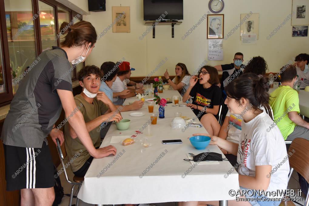EGS2021_03392   Route dei Giovani 2021, colazione offerta al centro incontro anziani di Grignasco