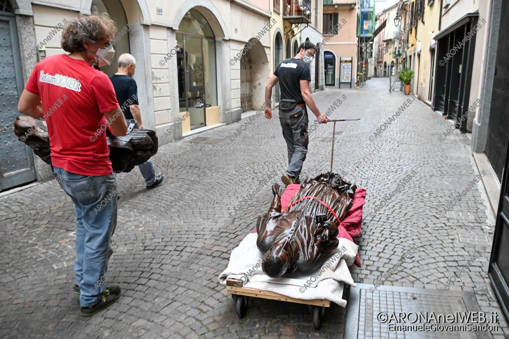 EGS2021_04975 | Il Sancarlino restaurato viene trasportato nel Corso Cavour