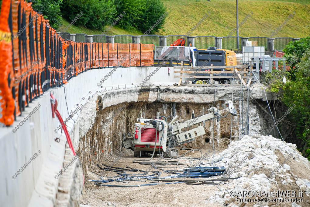 EGS2021_07885 | I lavori di consolidamento della strada SS33 ad Arona