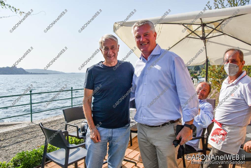 EGS2021_13202   Giuliano Pisapia e il sindaco di Meina Fabrizio Barbieri
