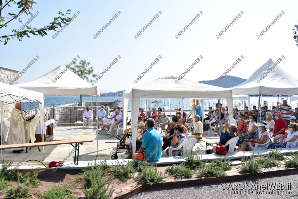 EGS2021_13305   Celebrazione per la Festa dell'Assunta a Meina sul nuovo lungolago