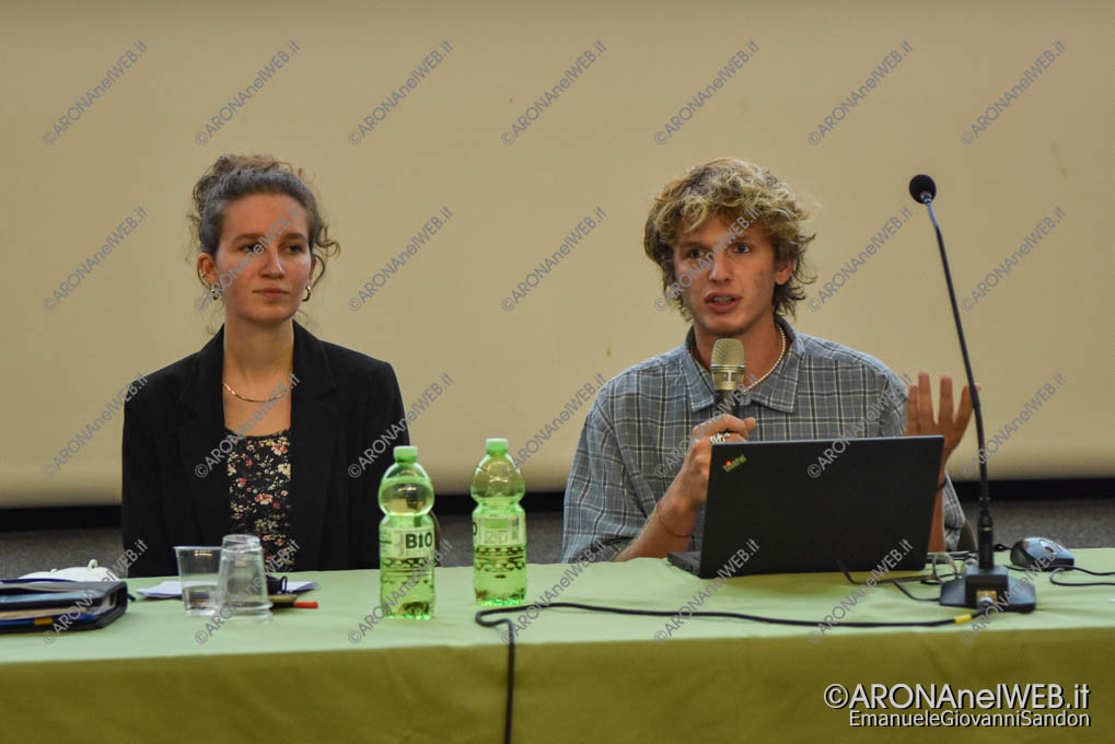 EGS2021_20181   Elena Gentina presidente e Filippo Manzini vicepresidente della Consulta Giovanile Comunale di Invorio
